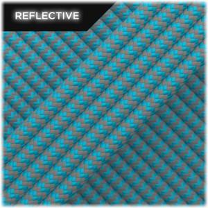Super reflective paracord 50/50, Sky Blue Wave #RW024