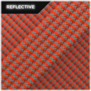 Super reflective paracord 50/50, Sofit Orange Wave #345
