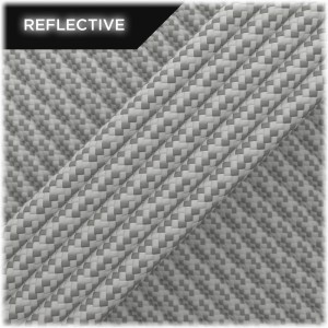 Super reflective paracord 50/50, Silver Matrix #002