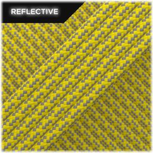 Paracord reflective, Yellow Matrix #019 50/50