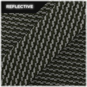 Paracord reflective, Army Green Twist #010 50/50