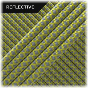 Super reflective paracord 50/50, Yellow Snake #019
