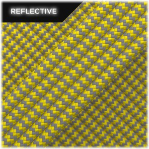 Paracord reflective, Yellow Wave #019 50/50
