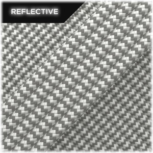 Paracord reflective, White Wave #RW007