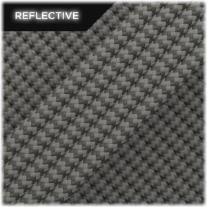 Super reflective paracord 50/50, Dark grey wave #RW030