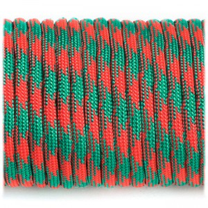Paracord Type III 550, emerald crimson camo #138