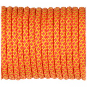 Paracord Type III 550, sofit yellow pink snake #424