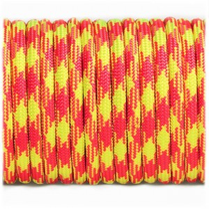 Paracord Type III 550, Pink yellow #384