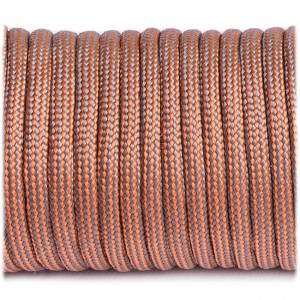 Paracord Type III 550, grey orange stripes #327