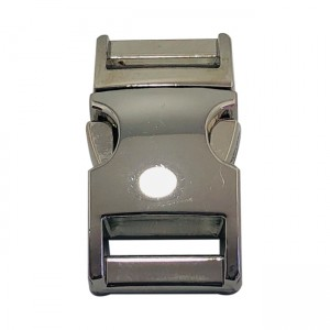 Buckle, stainless steel, 15mm