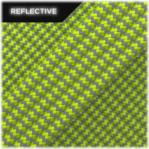 Super reflective paracord 50/50, Lime Wave #RW020
