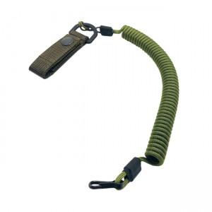 Spiral lanyard with a belt attachment, Moss