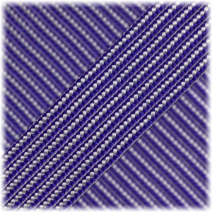 Paracord Type II 425, Purple Silver Stripes