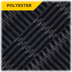 Reflective Paracord Type III 550 (PES) Black #10016