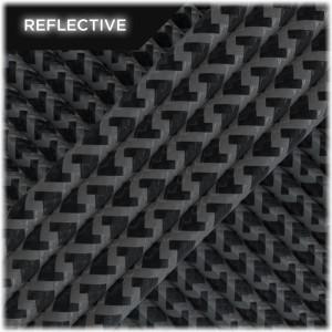 Nylon cord reflective 50/50 - 6mm - Black snake