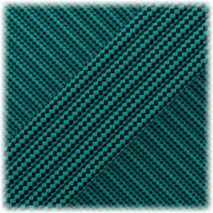 Paracord Type III 550, Neon turquose Black Stripes #161
