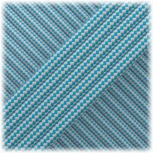 Paracord Type III 550, Ice Mint Silver Stripes #160