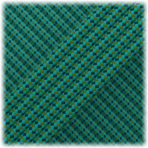 Paracord Type III 550, Green blue Chameleon #171