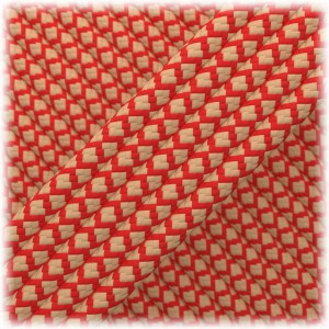 Paracord Type III 550, Tan red Snake #460