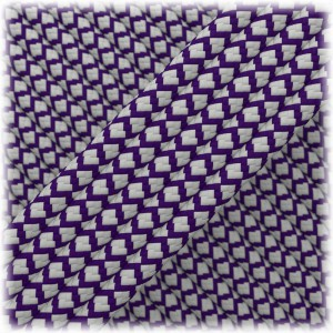 Paracord Type III 550, Silver Purple Snake #220