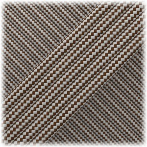 Paracord Type III 550, Chocolate Silver Stripes #221