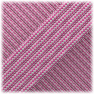 Paracord Type III 550, Pink Silver Stripes #222