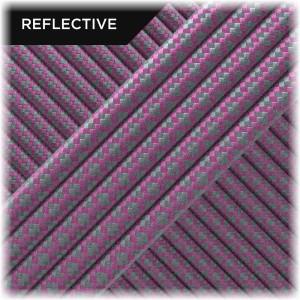 Super reflective paracord 50/50, Pastel pink Snake #RS015