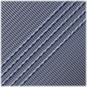 Microcord (1.2 mm), White Blue Stripes #133-175