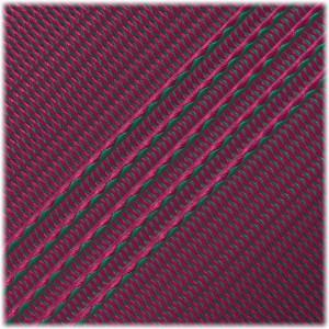 Microcord (1.2 mm), Emarald Green Neon Pink Stripes #134-175