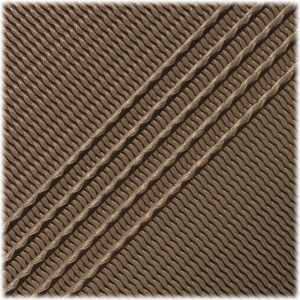 Microcord (1.2 mm), Coyote chocolate stripes #135-175