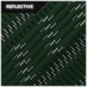 Paracord reflective, Mil green #R442
