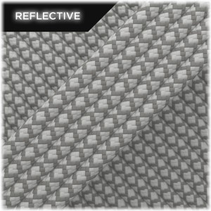 Super reflective paracord 50/50, Silver Snake #RS002