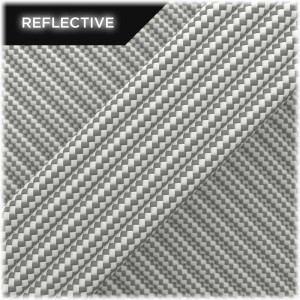 Paracord reflective, White Stripes #RSt007
