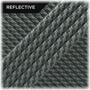 Super reflective paracord 50/50 , Khaki Twist #RT009