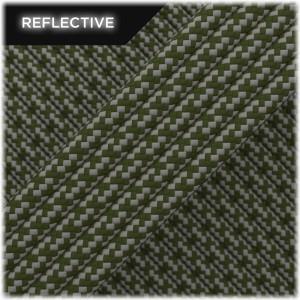 Super reflective paracord 50/50 , Khaki Matrix #RM009