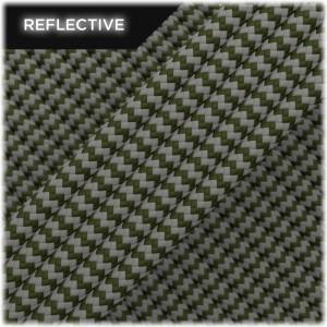 Super reflective paracord 50/50 , Khaki Wave #RW009