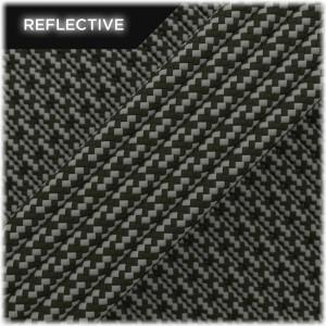 Super reflective paracord 50/50 , Army Green Matrix #RM010