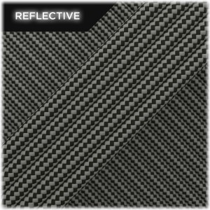 Super reflective paracord 50/50 , Dark Army Green Stripes #RSt011