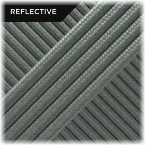 Super reflective paracord 50/50, Light Khaki Snake #RS014