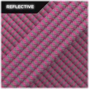 Super reflective paracord 50/50, Pastel pink Wave #RW015