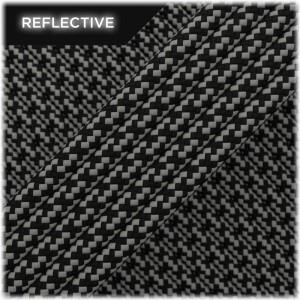 Super reflective paracord 50/50, Black Matrix #RM016