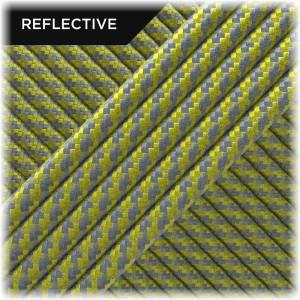 Super reflective paracord 50/50, Yellow Twist #RT019