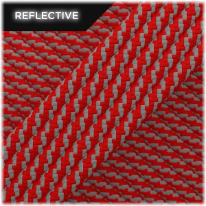 Super reflective paracord 50/50, Red Twist #RT021