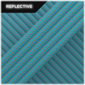 Super reflective paracord 50/50, Sky Blue Stripes #RSt024