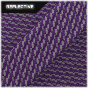 Super reflective paracord 50/50 , Violet Twist #RT027