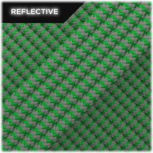Super reflective paracord 50/50 , Green Wave #RW025