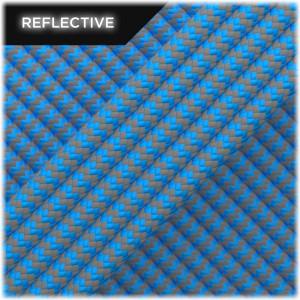 Super reflective paracord 50/50, Ocean Blue Wave #RW337