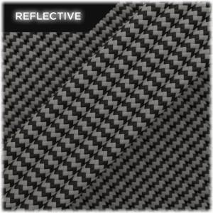 Super reflective paracord 50/50 , Black carbon Wave #RW407