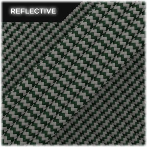 Super reflective paracord 50/50 , Mil Green Wave #RW442
