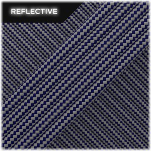 Super reflective paracord 50/50, Navi blue Stripes #RSt038